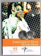 NEDERLAND JUBILEUMMUNT 2005 ZILVER 10 EURO PROOF IN BLISTER