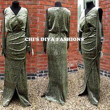 EX ASOS CURVE NEW SEASON Cold Shoulder Velvet Devore Maxi Dress Sizes UK 16-28