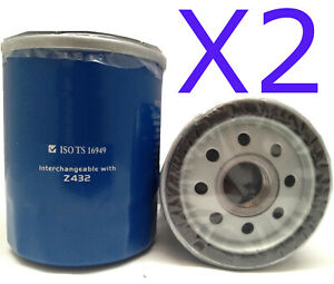 2x New Oil Filter Fit Interchangeable with Ryco Z432 - Wesfil WZ432