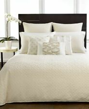Hotel Collection Stitched Diamond European Pillow Sham ONLY!  Cotton Ivory