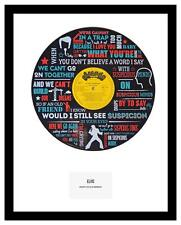 ELVIS - MEMORABILIA - SUSPICIOUS MINDS - VINYL RECORD LYRIC ART - Ltd Edition