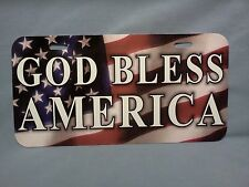 "American Flag Novelty License Plate with  ""God Bless America"""