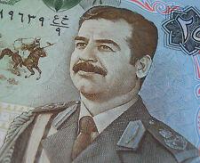 SADDAM HUSSEIN 1986 IRAQ 25 DINAR BANKNOTE MILITARY UNIFORM Mint World Money