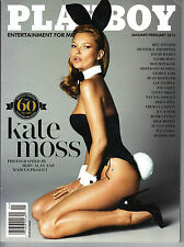 Playboy January 2014 60th Anniversary Kate Moss, Roos Monfort, Amanda Booth