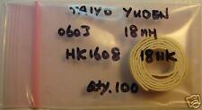 TAIYO YUDEN 0603 18nH Inductor HK160818NK, Qty.100