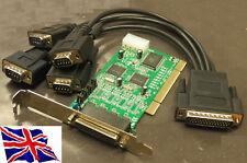 Rs-232 Pci 4 Puertos Serial Tarjeta 16c1050 4s W/power