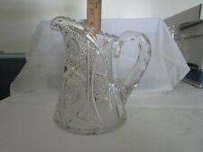 american brilliant cut glass pitcher