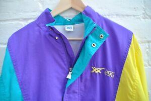 RARE VINTAGE ASICS ZIP UP. Size: UK Mens Medium. Multicoloured Jacket