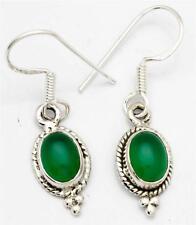 Green Onyx Gemstone Earrings Solid 925 Sterling Silver Jewelry IE17436