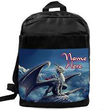 Boys Backpack Dragon School Bag Childrens Kids Rucksack Personalised KS08