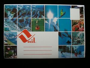 VAIL COLORADO SOUVENIR POSTCARD FOLDER, 14 VIEWS ~ SNOW SKIING, LIONSHEAD & MORE