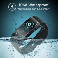 Sports Waterproof Fitness Activity Tracker Heart Rate Monitor Smart Watch Band