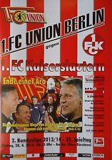 Programm 2013/14 Union Berlin - FC Kaiserslautern