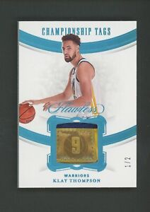 2020 Panini Flawless Championship Tags Klay Thompson Warriors Patch 1/2