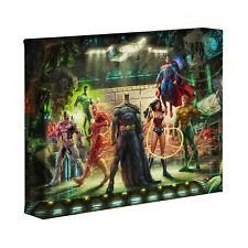 Justice League 8 x 10 Gallery Wrapped Canvas Thomas Kinkade Studios
