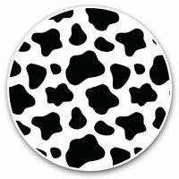 2 x Vinyl Stickers 7.5cm - Funky Cow Print Pattern Animals Cool Gift #8463