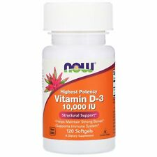 Now Foods: Vitamin D-3, 10,000 IU, 120 cápsulas blandas
