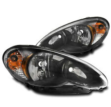 FOR 06-10 CHRYSLER PT CRUISER WAGON CRYSTAL STYLE HEADLIGHTS LAMPS BLACK LH+RH