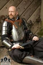 Medieval Armor Knight Collectible Steel Greek Armour Suit Brown Mercenary Larp
