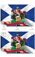 Escocia Thistle, el baterista Saltire X 2 pegatina COCHE CAMIÓN VAN Moto Caja De Herramientas Etc