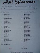 Programa 1996/97 msv duisburg el. - borussia Wuppertal