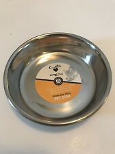 OurPet's Premium Rubber-Bonded Stainless Steel Cat Dish .75 Cup Of Food
