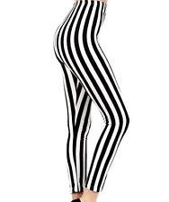 Beetlejuice Black & White Stripe Leggings Pants Goth Emo Punk Alternative Grunge