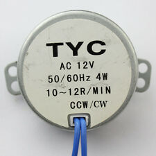 Robust Small Synchronous Motor AC 12V 10/12RPM 50/60Hz 4W CCW/CW J96H