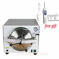 18L Dental Autoclave Steam Sterilizer Medical Sterilizition Lab Equipment 900W