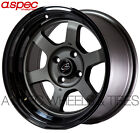 15X8 +0 ROTA GRID-V GUN METAL BLACK 4X114.3 RIMS FIT DATSUN 240Z 260Z 280Z 4X4.5