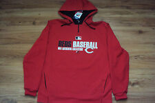 CINCINNATI REDS MAJESTIC MLB TEAM FAVORITE 1/4 ZIP AUTHENTIC HOODED SWEATSHIRT