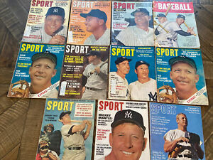 Lot Of 10 Mickey Mantle Sport Magazines 1960s (see Description)