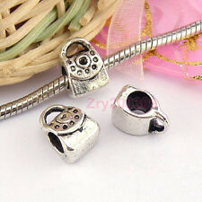 12Pcs Tibetan Silver Handbag Spacer Beads Fit Charm Bracelet 8.5x11.5mm KB444