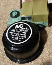 CA Clásico Tapón de respiradero Etiqueta pegatina White Negro Land Rover Serie 1