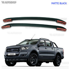 Matte Black Abs Roof Rack Bar Fit Ford Ranger T6 MK2 Px4 PX WILDTRAK 2012-2017