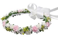 Mädchen Haarkranz Kopfschmuck Haarschmuck Blumenkranz Haarband Kommunion Hochzei