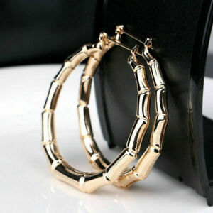 Elegant 925 Silver,Gold Wedding Engagement Hollow Hoop Earrings Women Jewelry