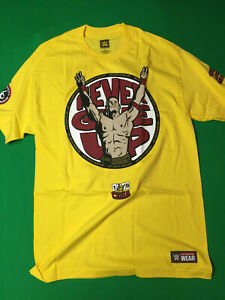 WWE AUTHENTIC John Cena: Never Give Up/U Can't C M Gold Shirt Size LARGE