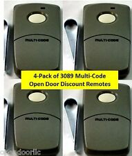 3089 Linear 4PACK Multi-Code 300mh 1 Button Remotes MCS308911 for Multicode 1090