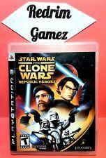 Star Wars Clone Wars Republic Heroes PS3 Video Games