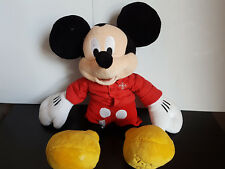"Genuine Original Disney 12"" Winter MICKEY MOUSE With Coat Soft Plush Toy"