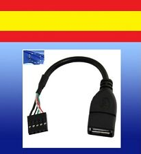 CABLE adaptador USB jack HEMBRA 2.0 a 5 PIN hembra placa madre 5pins pins pc