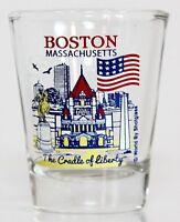 BOSTON MASSACHUSETTS GREAT AMERICAN CITIES COLLECTION SHOT GLASS SHOTGLASS