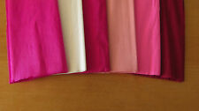 "6 SHEETS OF CREPE PAPER 19""x78""   FUN PINKS MIX"
