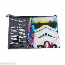 Star Wars Pencil Pouch Case Zippered Make Up Bag Disney Makeup Case Authentic