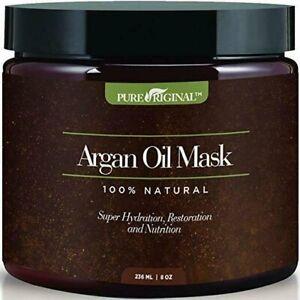 Argan Oil Hair Mask w/ Aloe Vera & Keratin Deep Conditioner 8 Oz 100% Organic