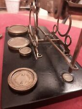 London perry & Co Victorian Brass Postal scales with weights antique