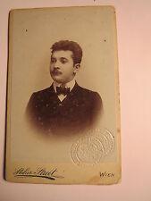 Wien - 1905 - Kanzlei-Assistent Josef Haas - Legitimationskarte / CDV
