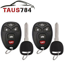 2 New Replacement Keyless Entry Remote Start Key Fob Clicker for 15912860 w/Chip