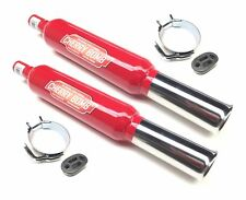 2x Stepped Cherry Bombs Rolled Tip Red Rear Silencers + Mtg + Bracket